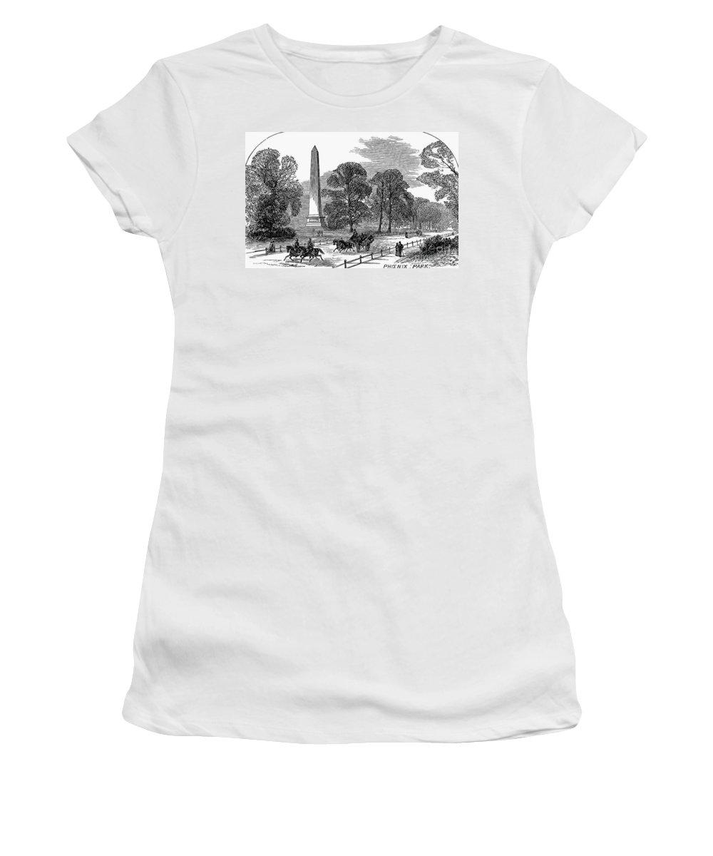 1878 Women's T-Shirt featuring the photograph Dublin: Phoenix Park, 1878 by Granger