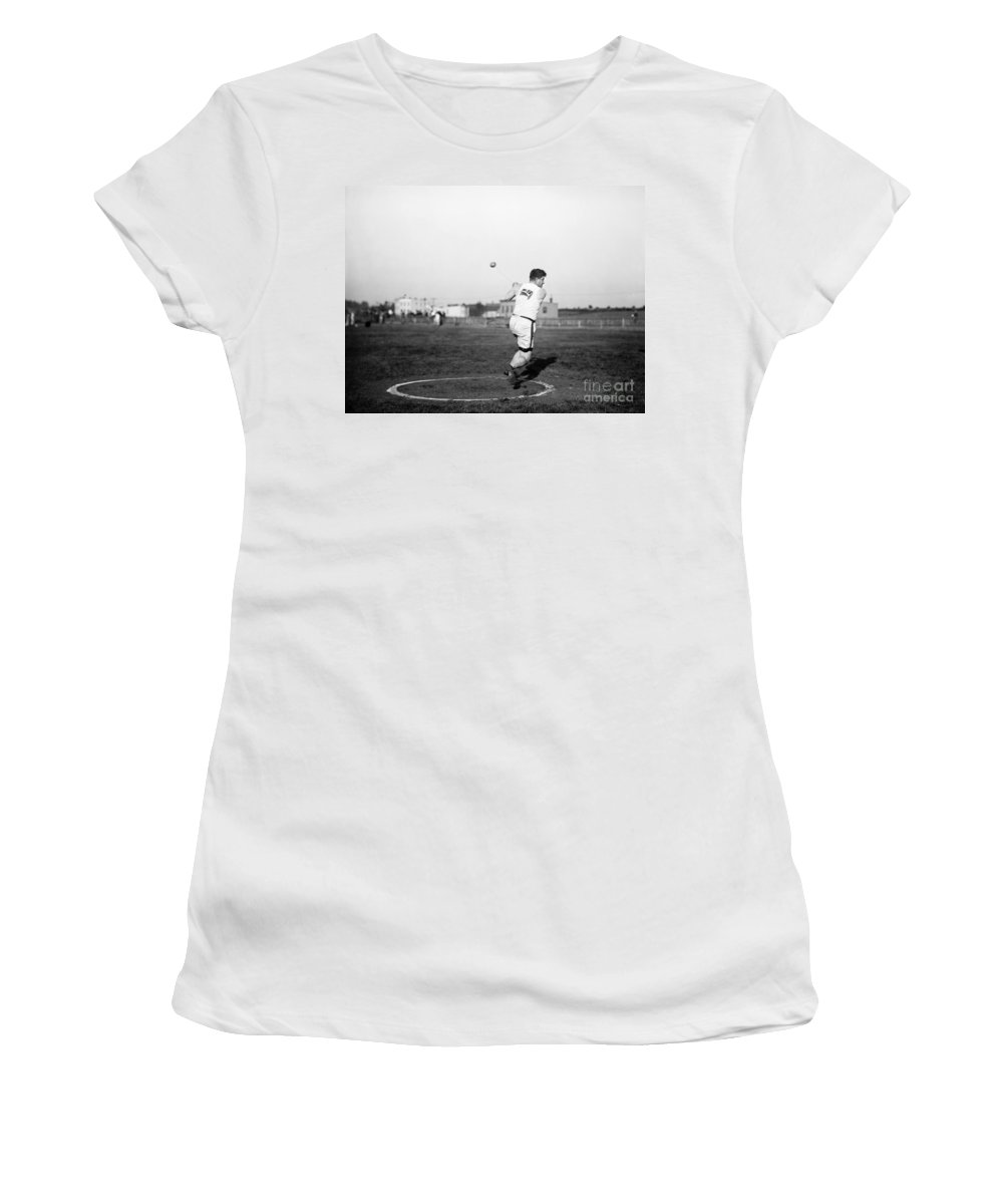 1912 Women's T-Shirt featuring the photograph Duncan Gillis (1883-1965) by Granger