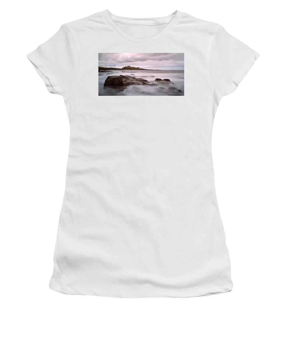 Dunstanburgh Castle Women's T-Shirt (Athletic Fit) featuring the photograph Dunstanburgh Castle IIi by David Pringle