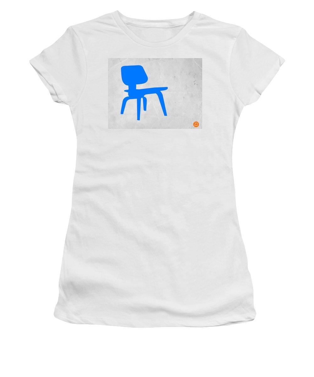Eames Chair Women's T-Shirt featuring the photograph Eames Blue Chair by Naxart Studio