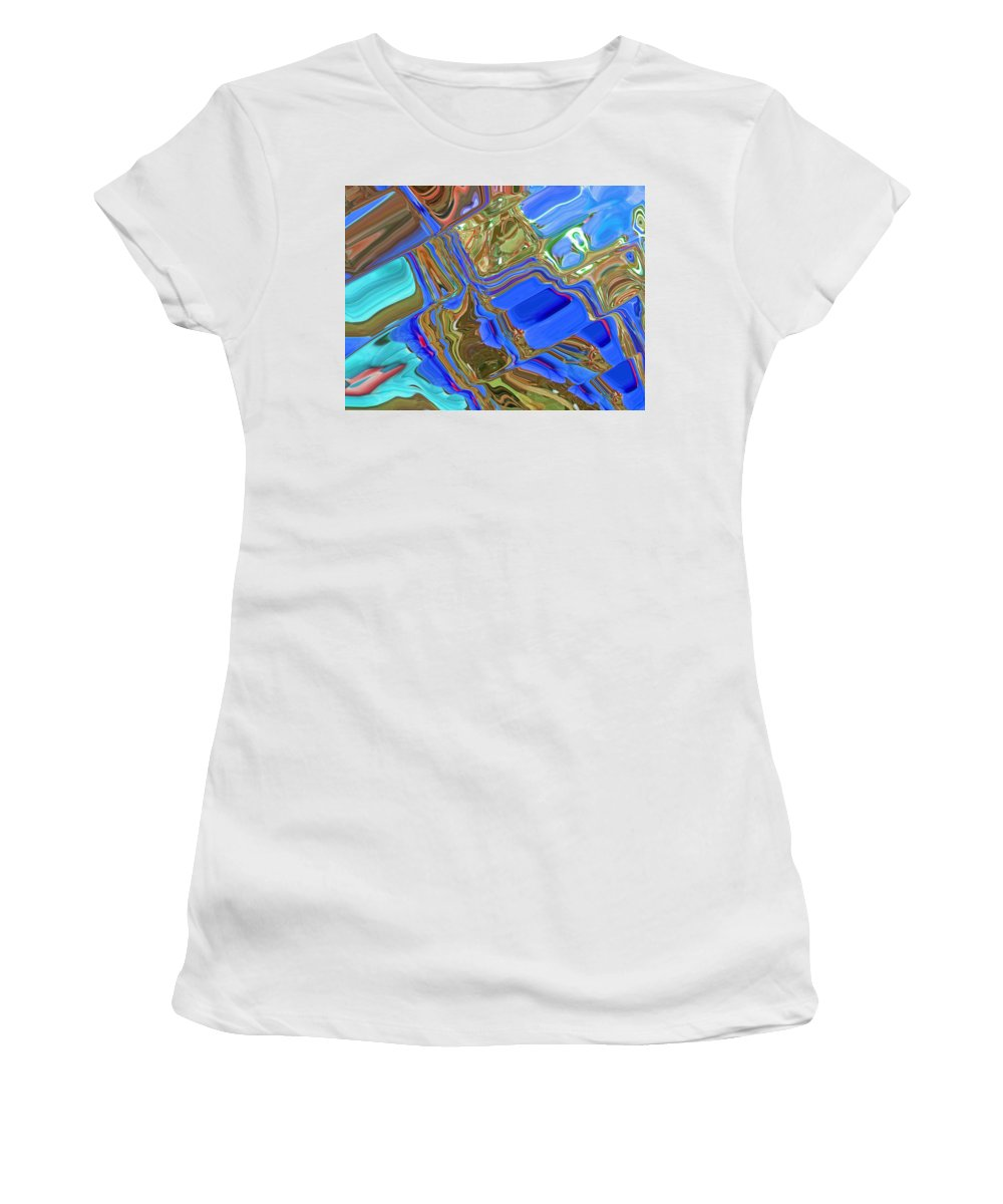Abstract Women's T-Shirt (Athletic Fit) featuring the photograph Earth Tones by Aimee L Maher ALM GALLERY