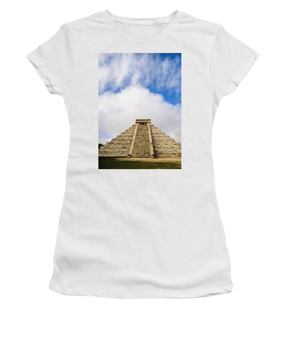 Vertical Women's T-Shirt (Athletic Fit) featuring the photograph El Castillo by Axiom Photographic