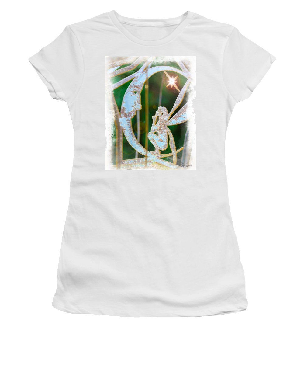 Faery Women's T-Shirt featuring the photograph Faery Moon by Diana Haronis