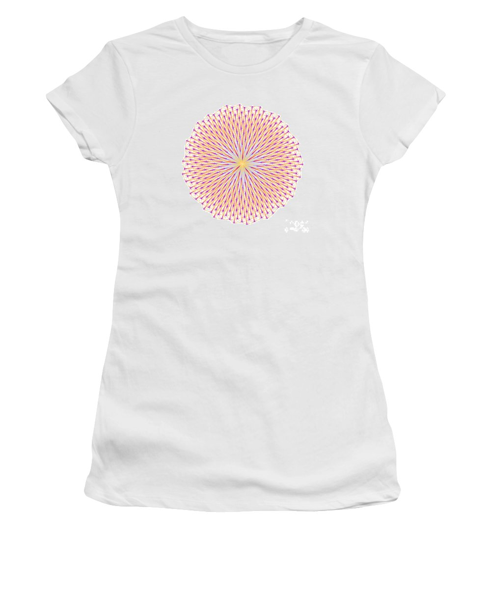 Fibonacci Women's T-Shirt featuring the digital art Fibonacci Image With Reticulation In Blue And Orange by Marcus West