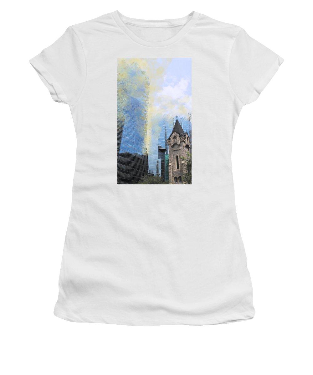 Toronto Women's T-Shirt featuring the photograph Financial Crisis by Ian MacDonald