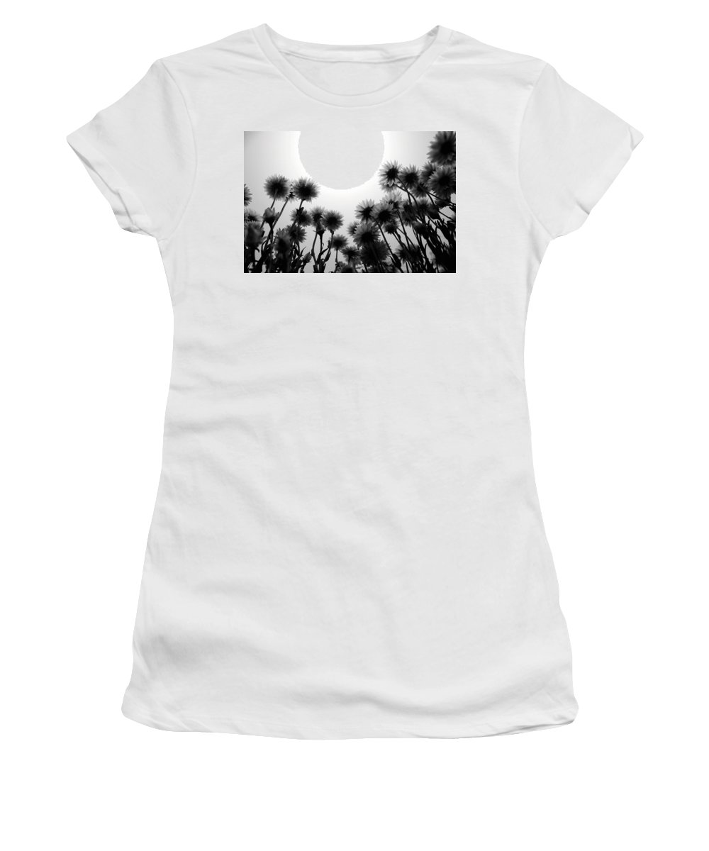 Flowers Women's T-Shirt featuring the photograph Flowers Standing Tall by Sumit Mehndiratta