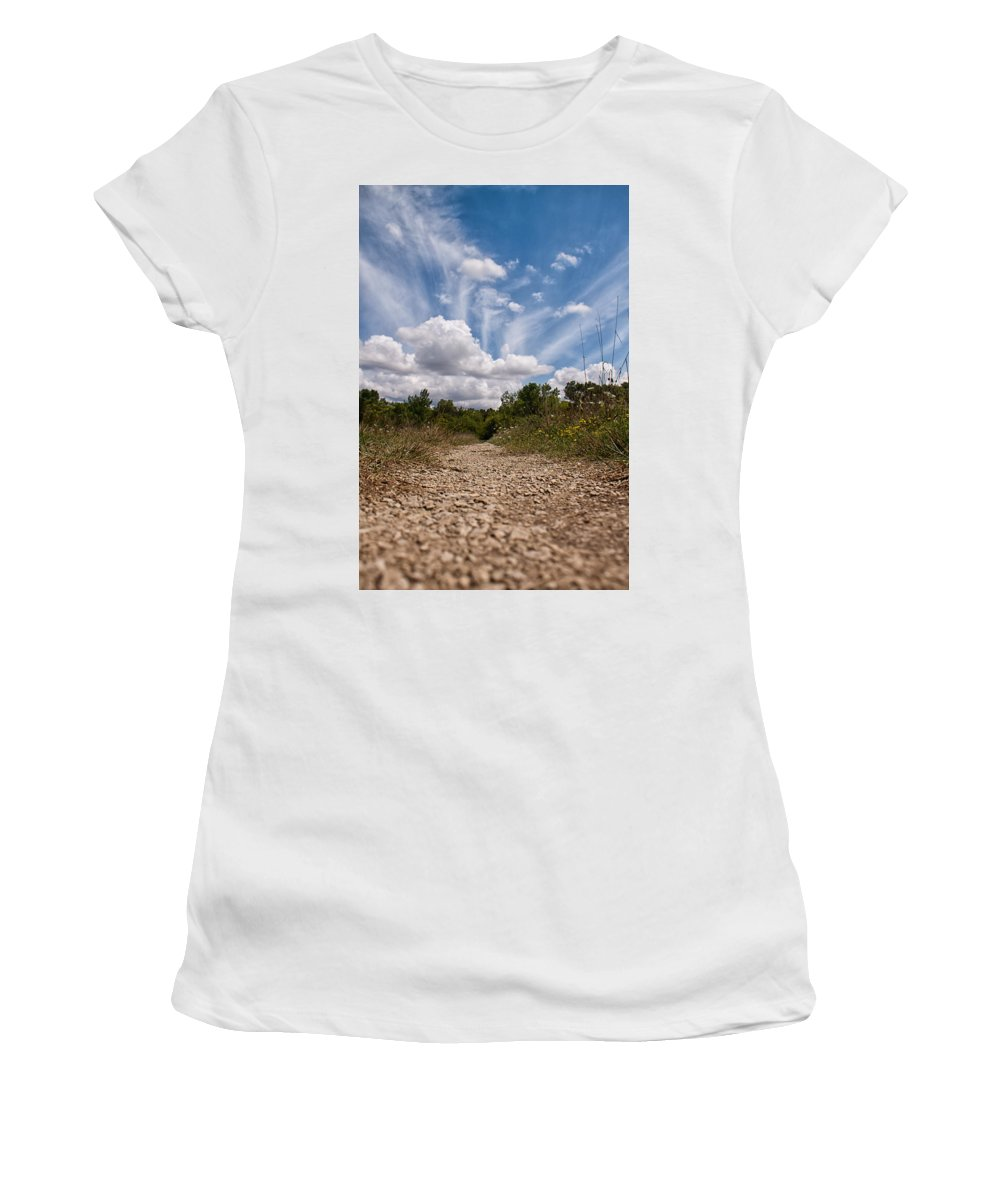 Sky Women's T-Shirt (Athletic Fit) featuring the photograph Follow The Path by Lauri Novak
