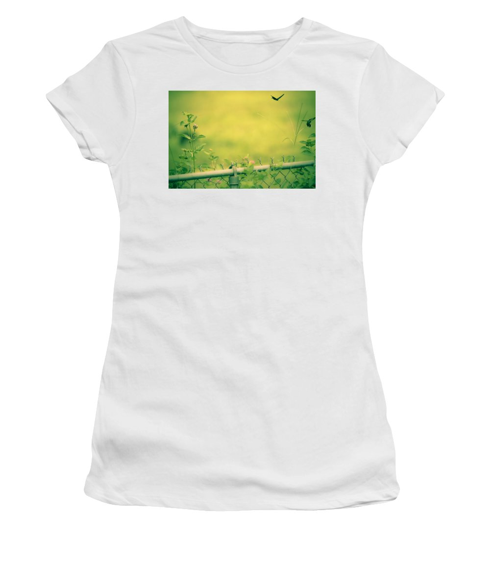 Women's T-Shirt (Athletic Fit) featuring the photograph Garden Scene After Lightroom by Kim Henderson