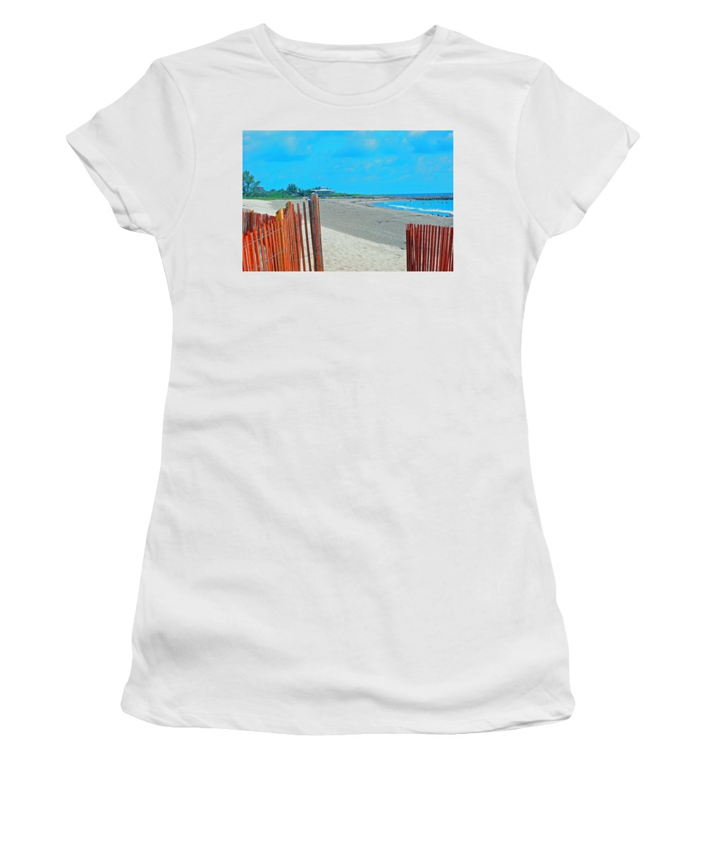 Beach Women's T-Shirt (Athletic Fit) featuring the photograph Gate To Paradise by Gary Wonning