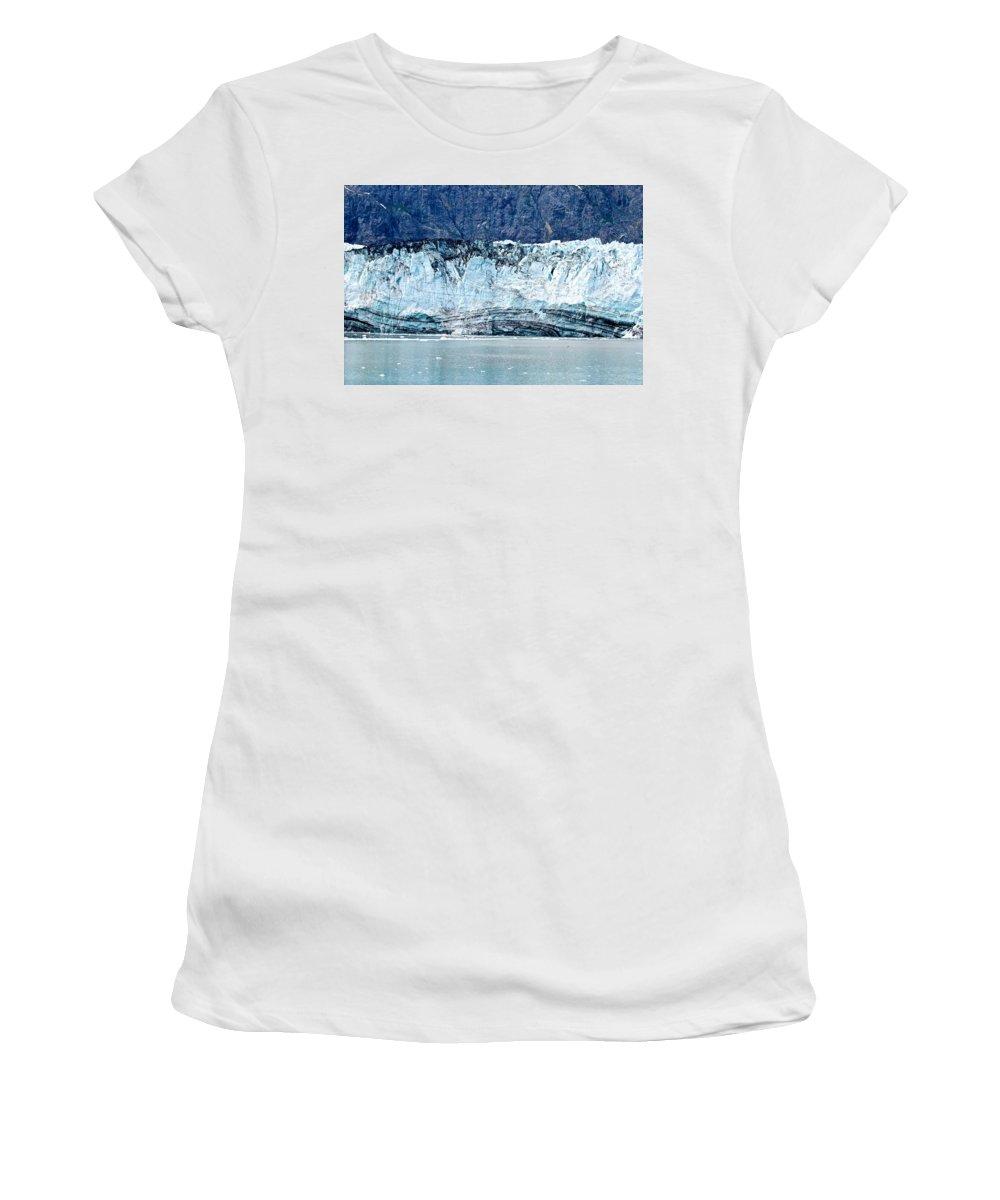 Glacier Women's T-Shirt (Athletic Fit) featuring the photograph Glacier Face by Eric Tressler