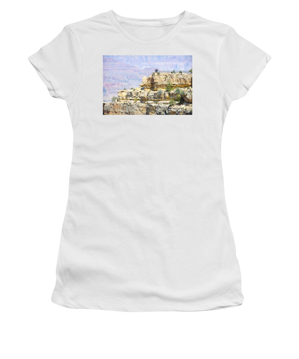 Grand Canyon Women's T-Shirt (Athletic Fit) featuring the photograph Grand Canyon Overlook by Julie Niemela