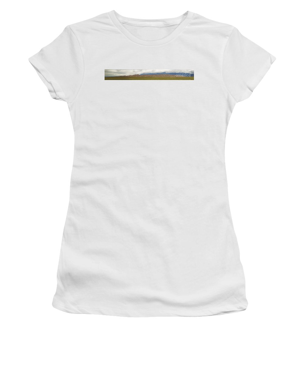 Great Sand Dunes Women's T-Shirt (Athletic Fit) featuring the photograph Great Sand Dunes National Park by Tim Mulina