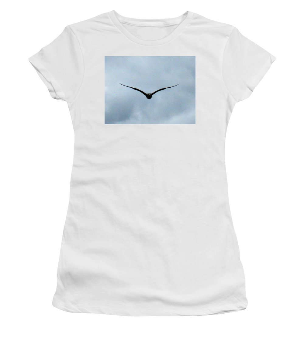 Seagull Women's T-Shirt (Athletic Fit) featuring the photograph Head On by Linda Hutchins
