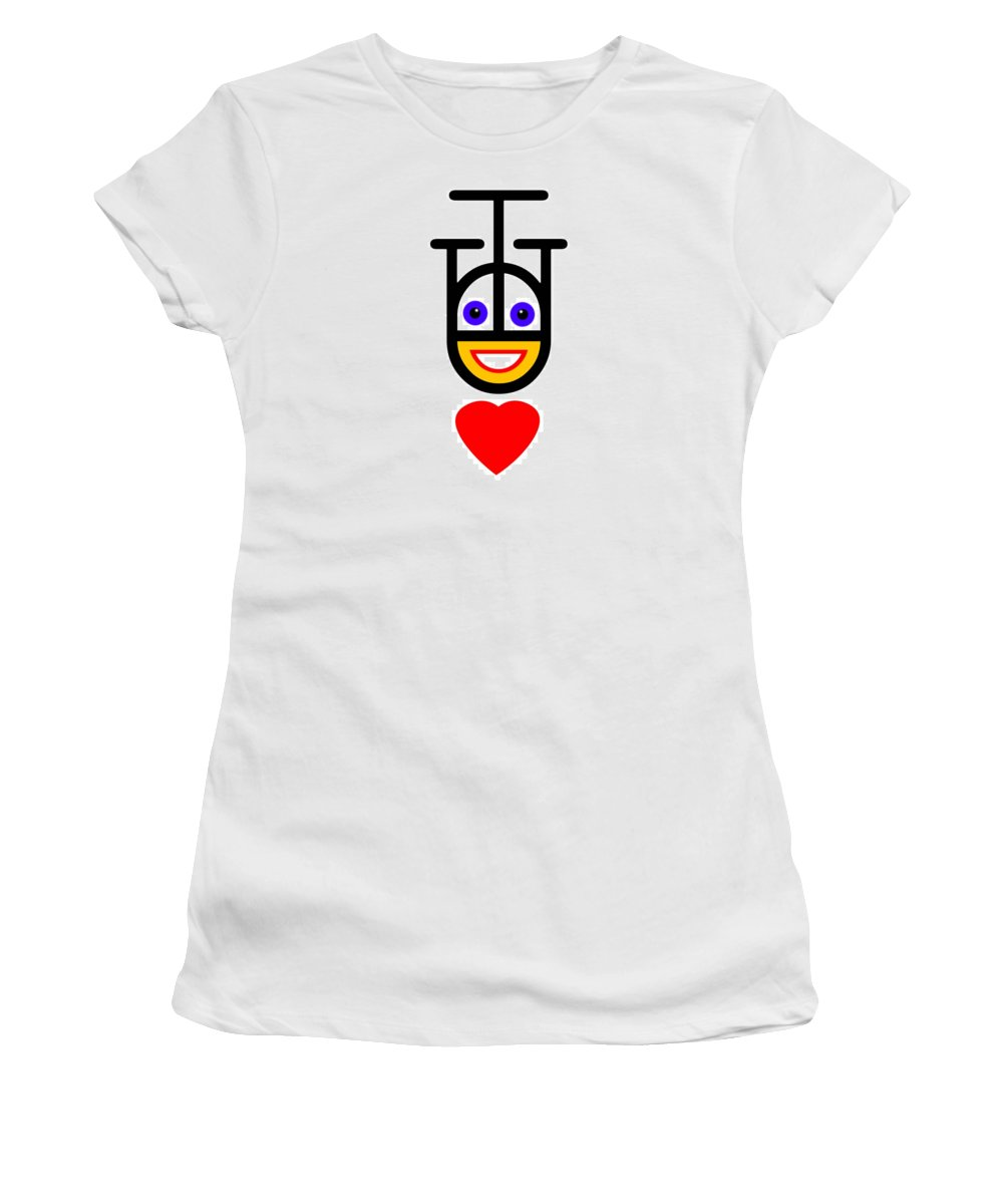 Love Women's T-Shirt featuring the painting Head Over Heels by Charles Stuart