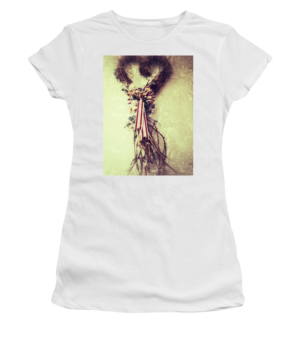 Jerry Cordeiro Photographs Framed Prints Framed Prints Photographs Women's T-Shirt (Athletic Fit) featuring the photograph Heart Of Roots by The Artist Project