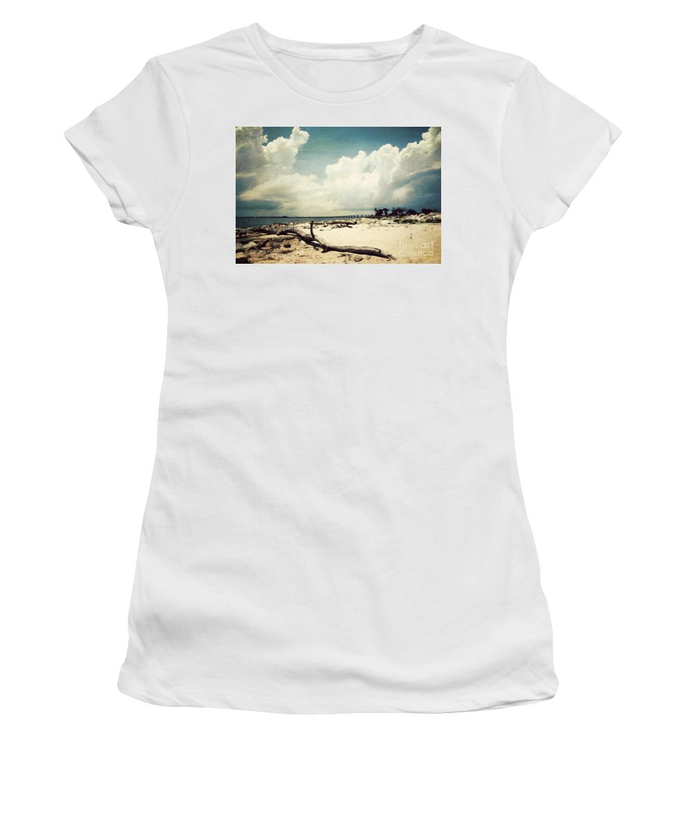Beach Women's T-Shirt featuring the photograph Henderson Point by Joan McCool