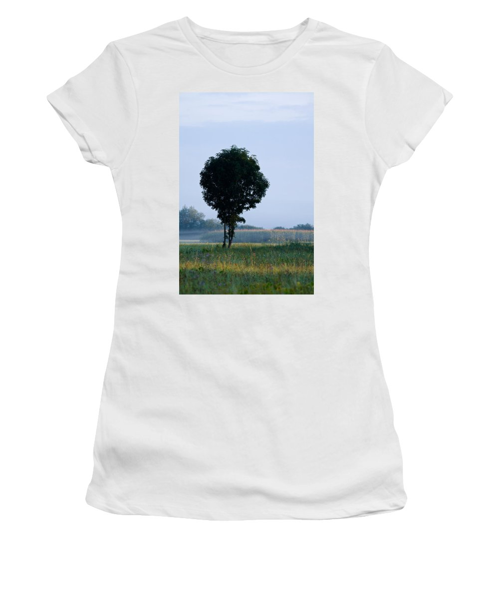 Barje Women's T-Shirt (Athletic Fit) featuring the photograph Here Comes The Sun by Ian Middleton