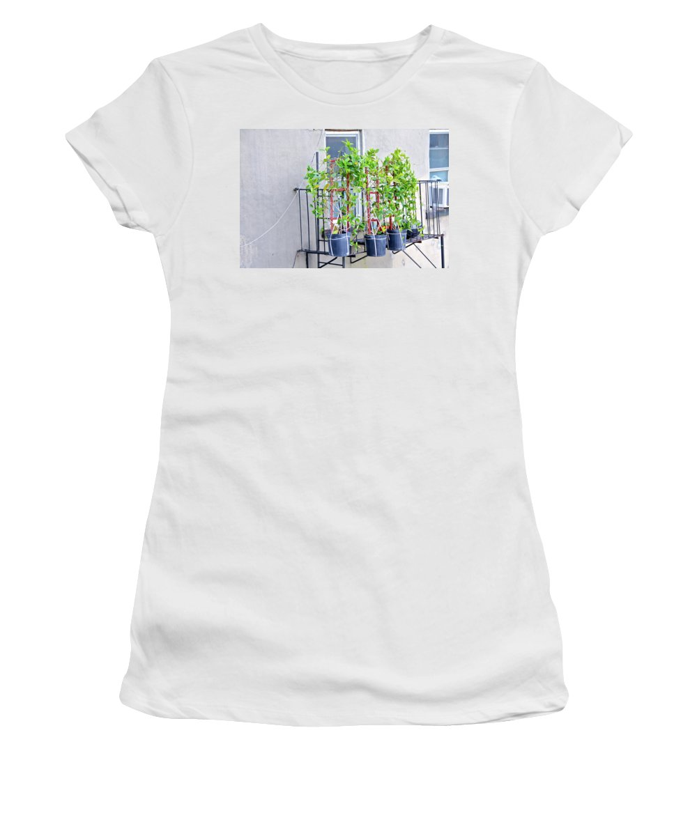 The High Line Women's T-Shirt (Athletic Fit) featuring the photograph High Line Print 28 by Terry Wallace