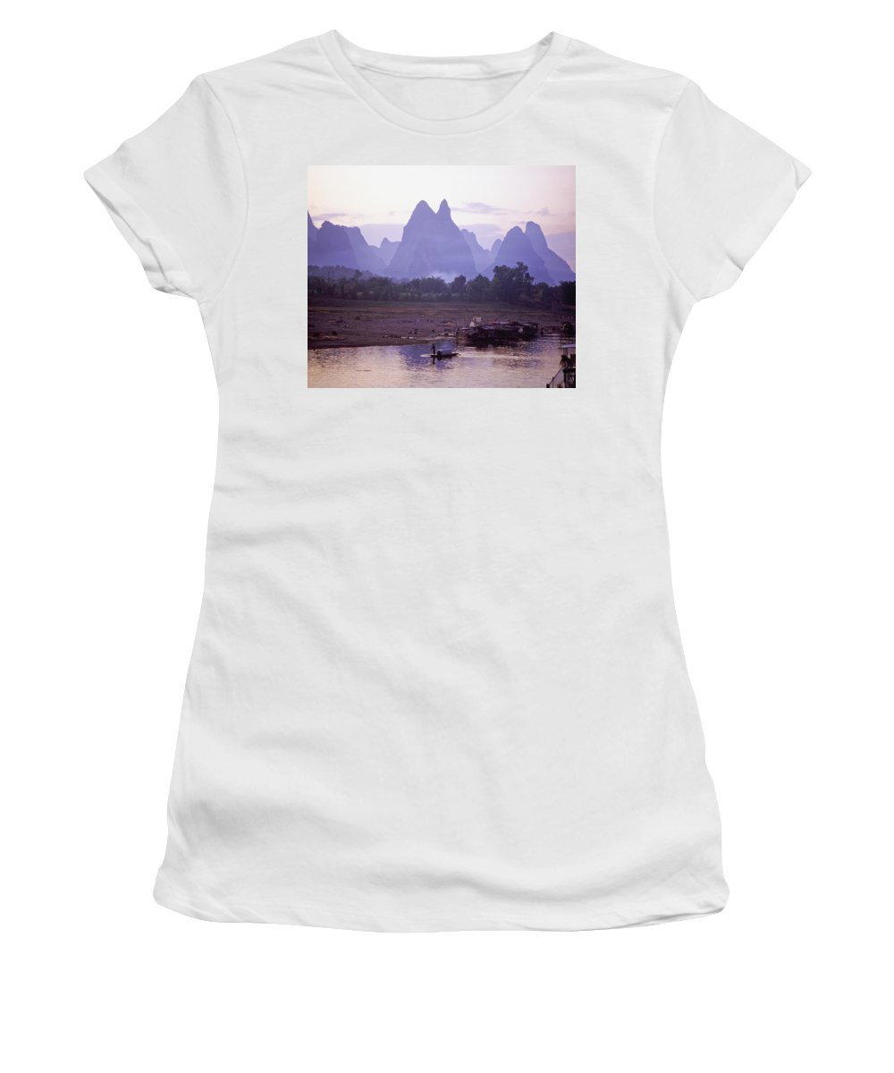 Outdoors Women's T-Shirt (Athletic Fit) featuring the photograph Huangshan Mountains And Li Xiang by Axiom Photographic