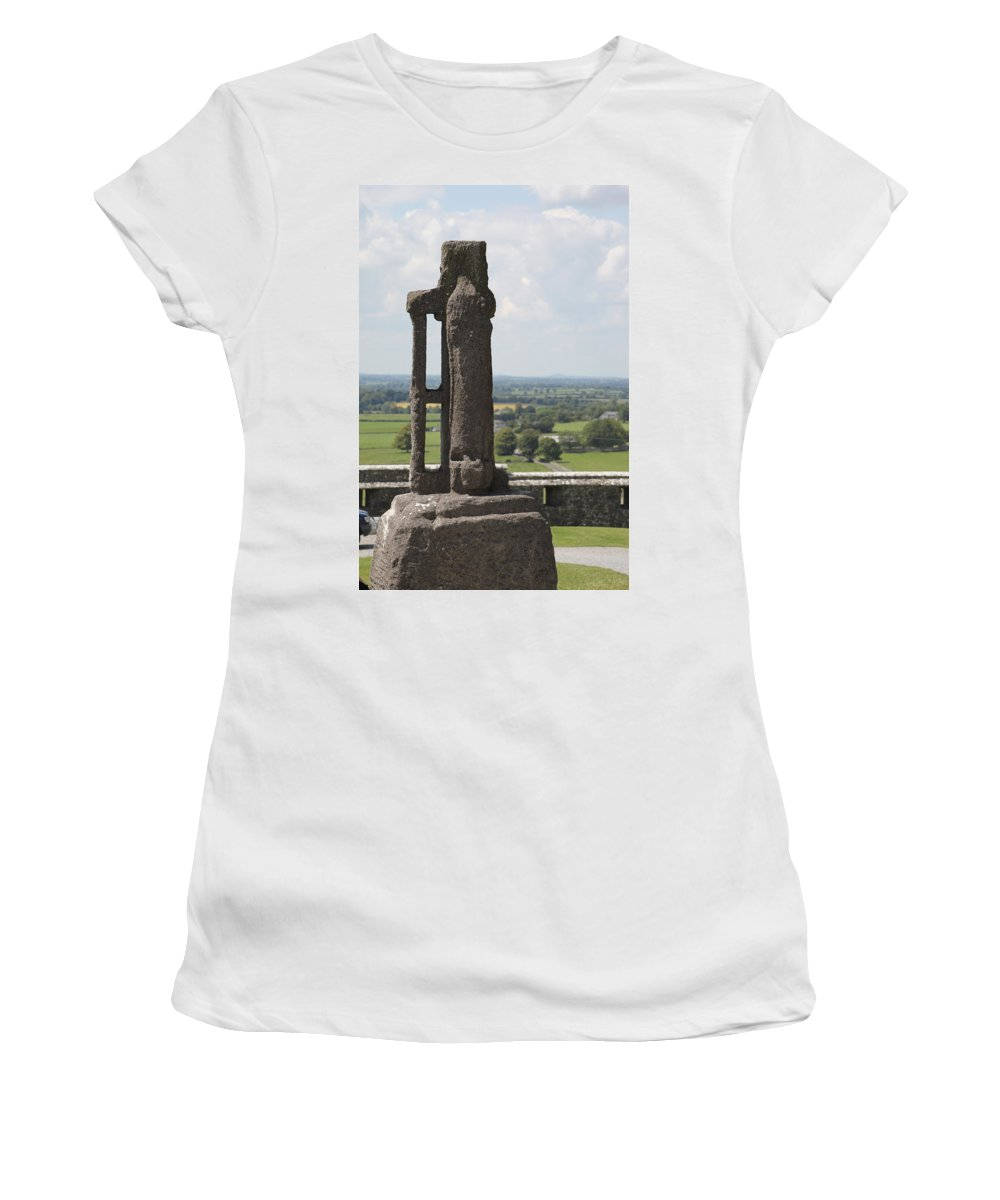 Rock Of Cashel Women's T-Shirt featuring the photograph Ireland 0008 by Carol Ann Thomas