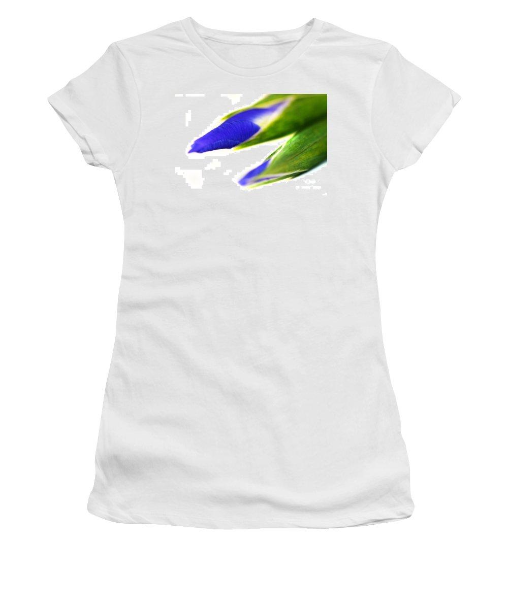 Purple Women's T-Shirt featuring the photograph Iris by Henrik Lehnerer