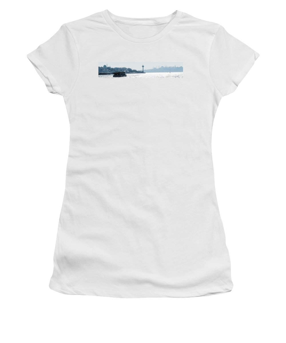 Istanbul Women's T-Shirt (Athletic Fit) featuring the photograph Istanbul Afternoon by Ian MacDonald