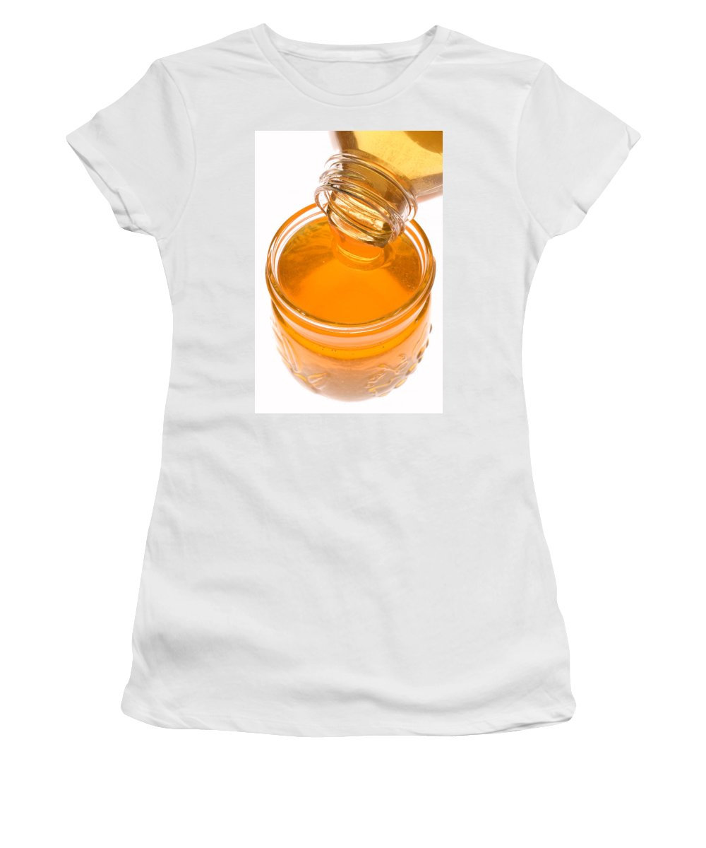 Honey Women's T-Shirt featuring the photograph Jar Of Honey by Garry Gay