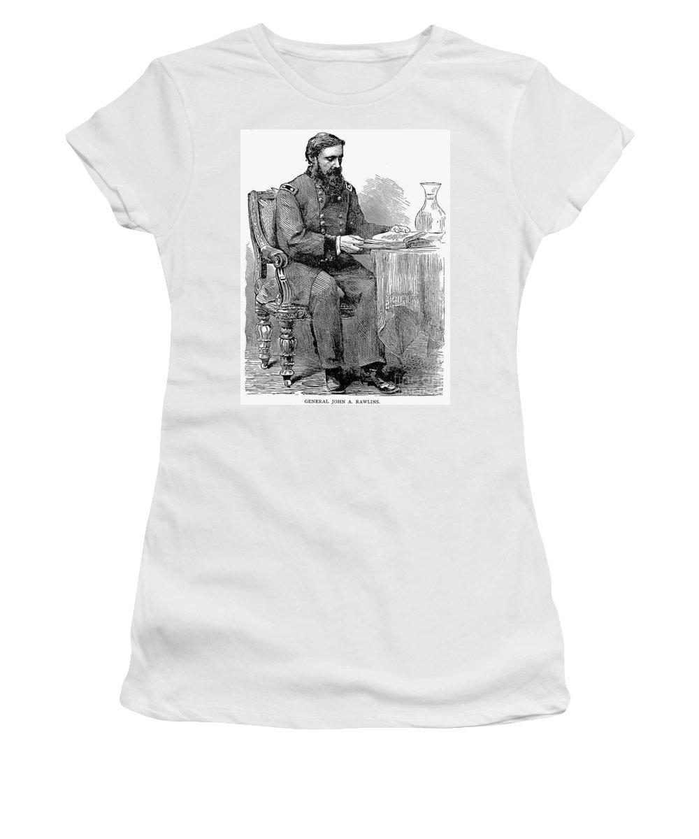 19th Century Women's T-Shirt featuring the photograph John A. Rawlins by Granger
