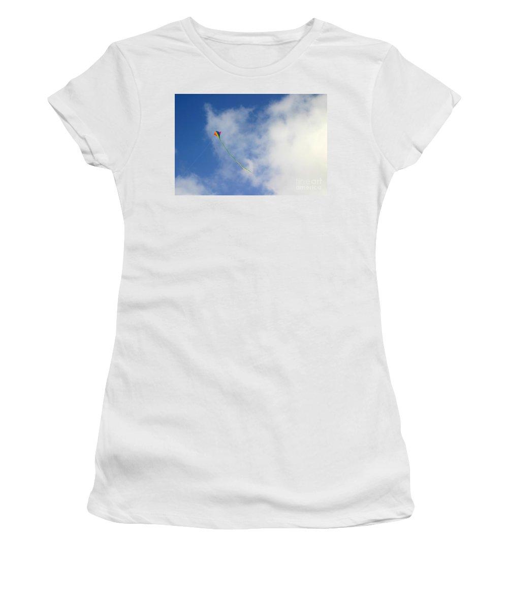 Outside Women's T-Shirt featuring the photograph Kite by Henrik Lehnerer