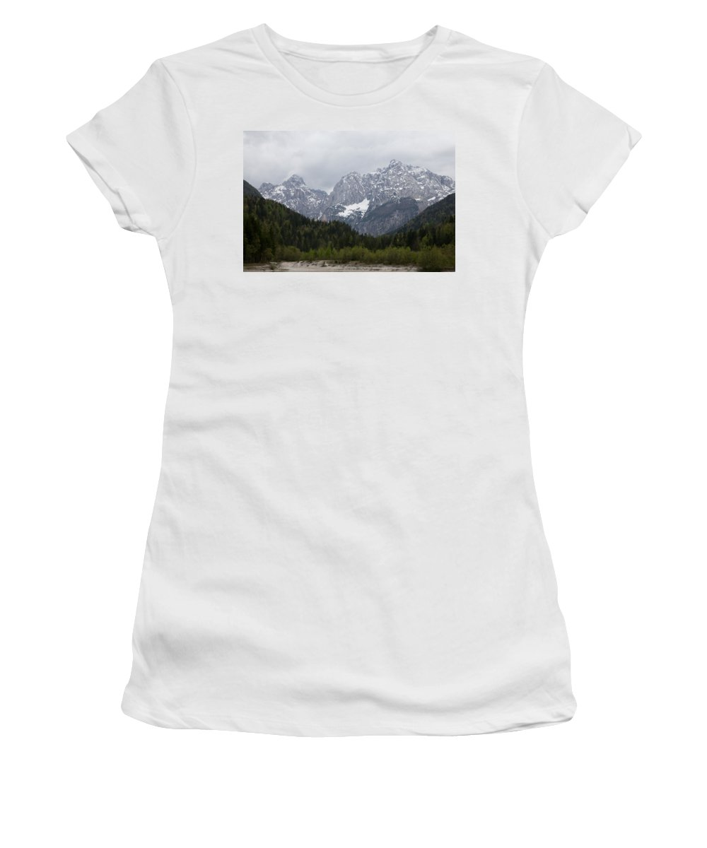Kranjska Gora Women's T-Shirt (Athletic Fit) featuring the photograph Kranjska Gora by Ian Middleton