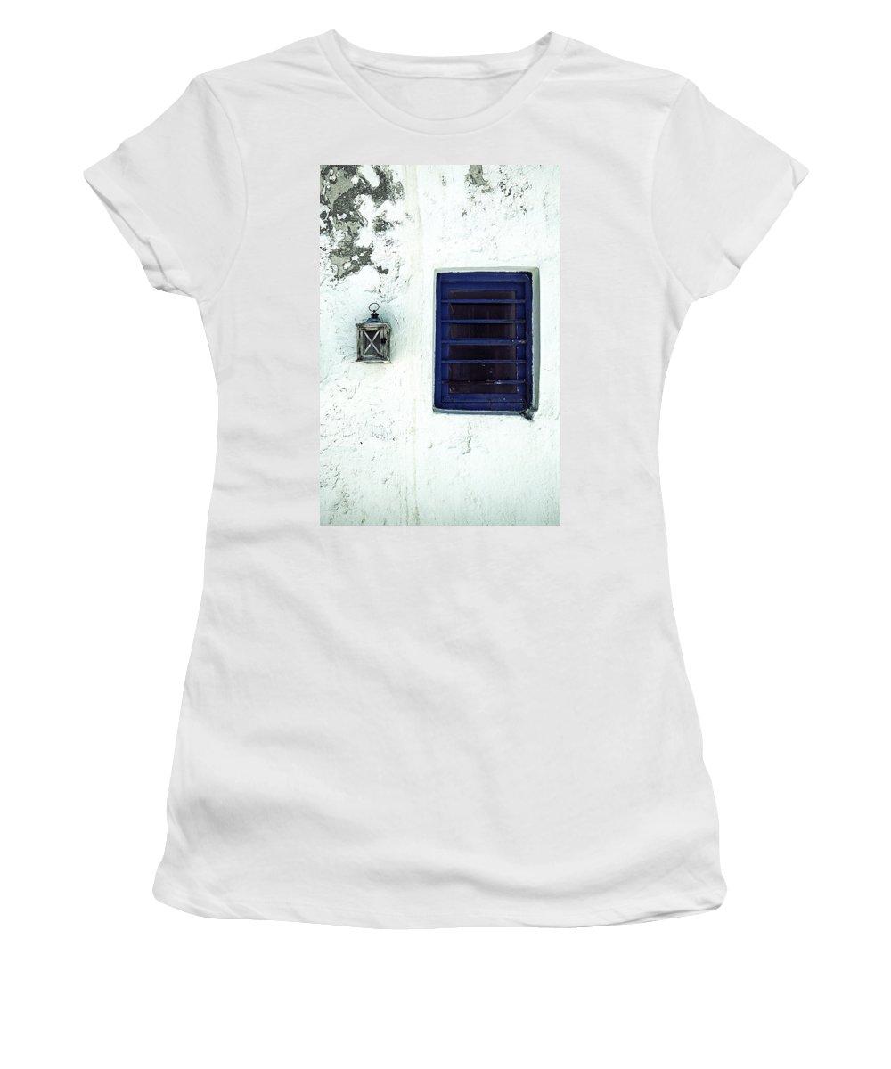 Lantern Women's T-Shirt featuring the photograph Lantern And Window by Joana Kruse