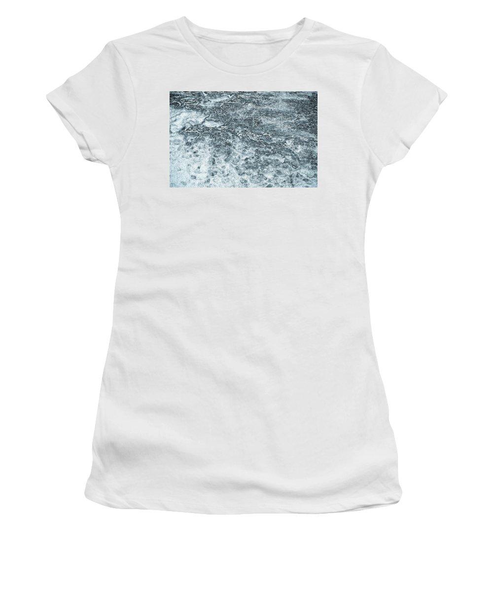 Lava Women's T-Shirt featuring the digital art Lava Abstract by David Pyatt