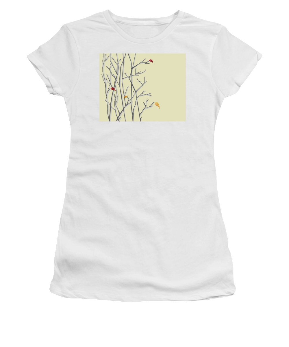 Leaves Women's T-Shirt (Athletic Fit) featuring the digital art Leavin by Hannah Breidenbach