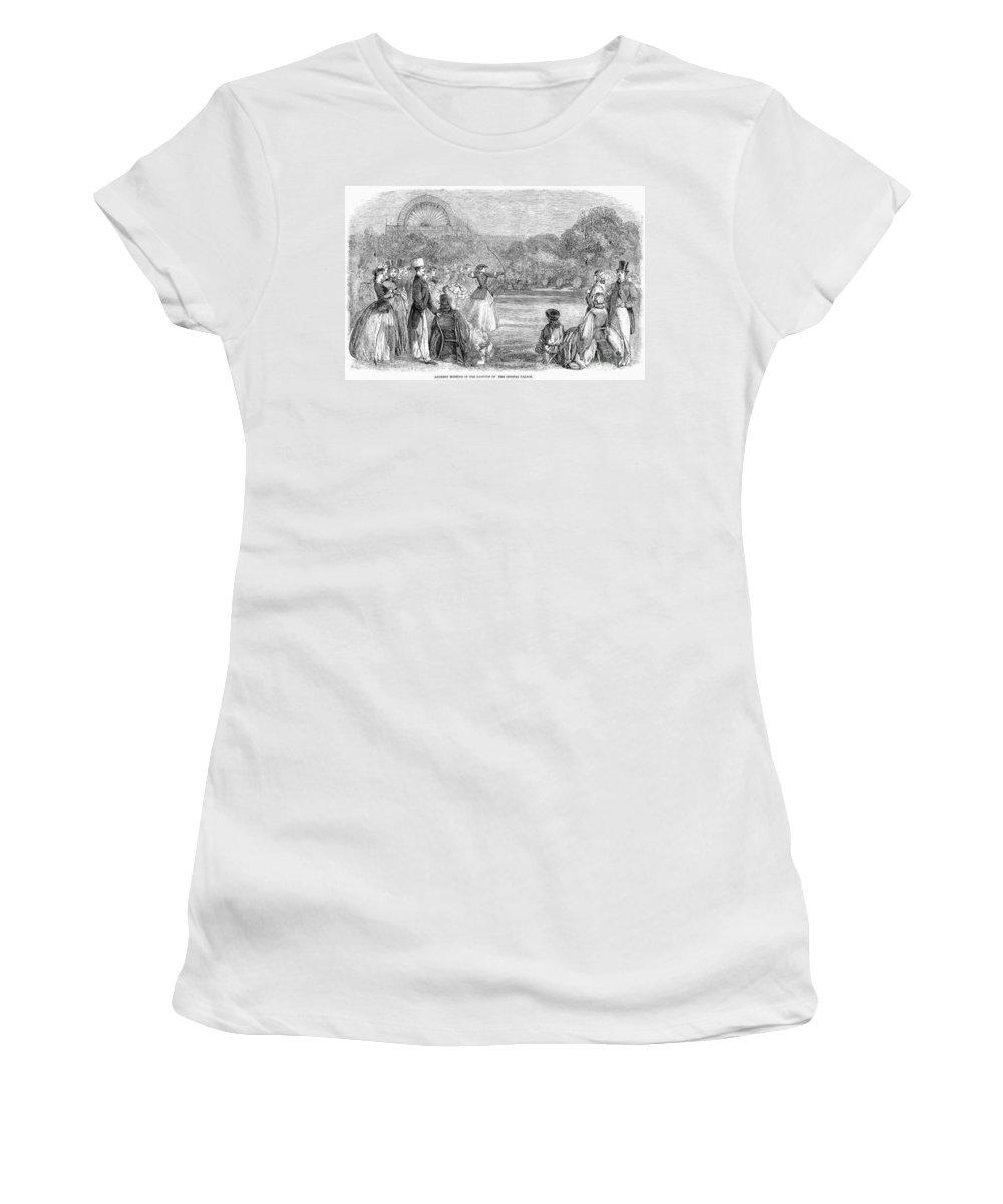 1859 Women's T-Shirt featuring the photograph London: Archery, 1859 by Granger
