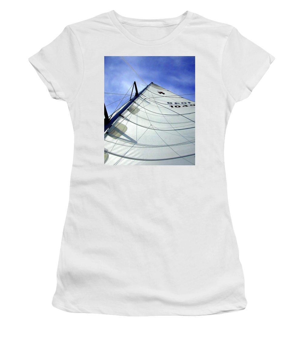 Oriental Women's T-Shirt featuring the photograph Main Sail by Gary Adkins