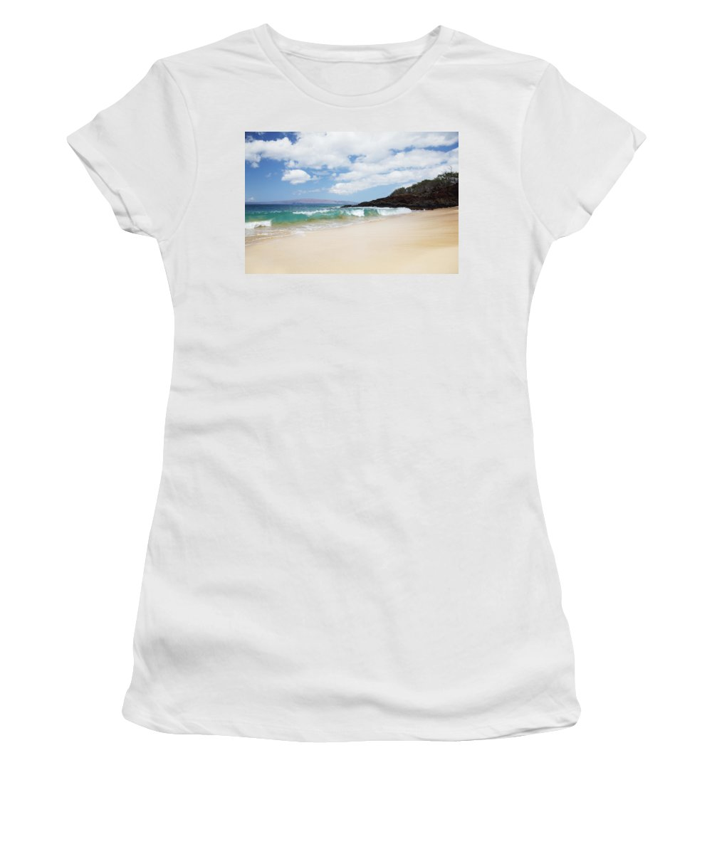 Beach Women's T-Shirt (Athletic Fit) featuring the photograph Makena Coast by Jenna Szerlag