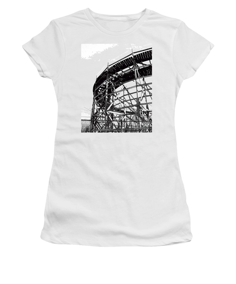 Roller Coaster Women's T-Shirt (Athletic Fit) featuring the photograph Memphis Pippin by Lizi Beard-Ward
