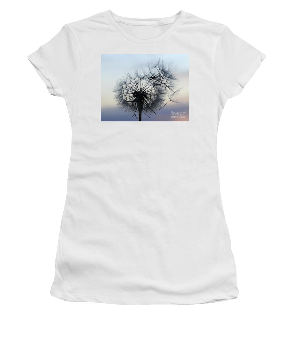 Seeds Women's T-Shirt (Athletic Fit) featuring the photograph Wind Blown 1 by Bob Christopher