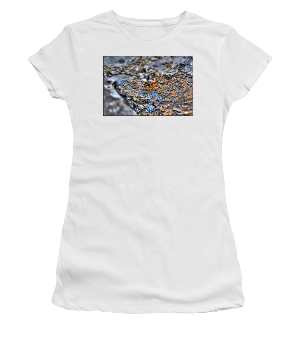 Women's T-Shirt (Athletic Fit) featuring the photograph Mind Your Own Buzznuss by Michael Frank Jr