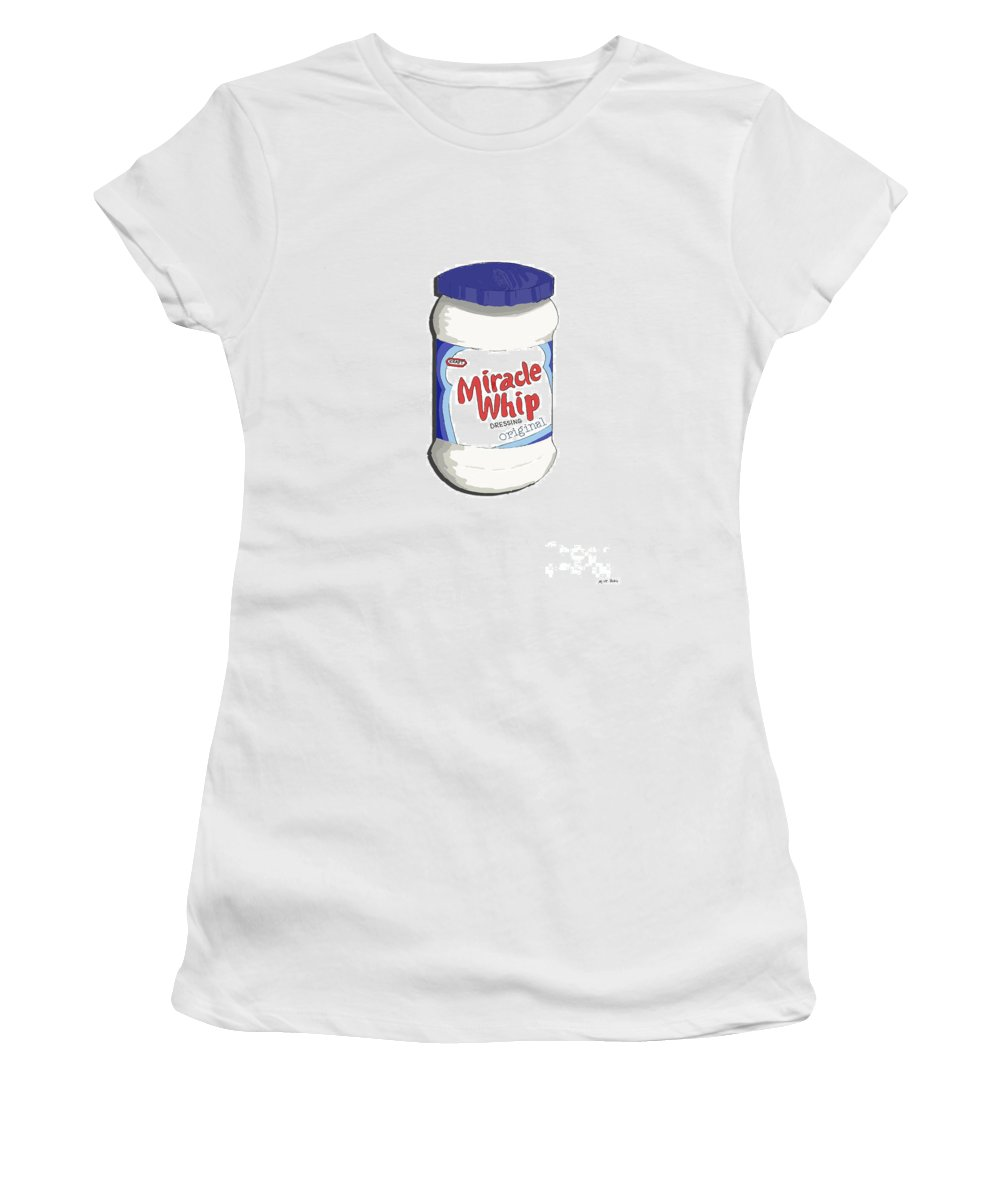 Pop Art Women's T-Shirt (Athletic Fit) featuring the painting Miracle Whip by George Pedro