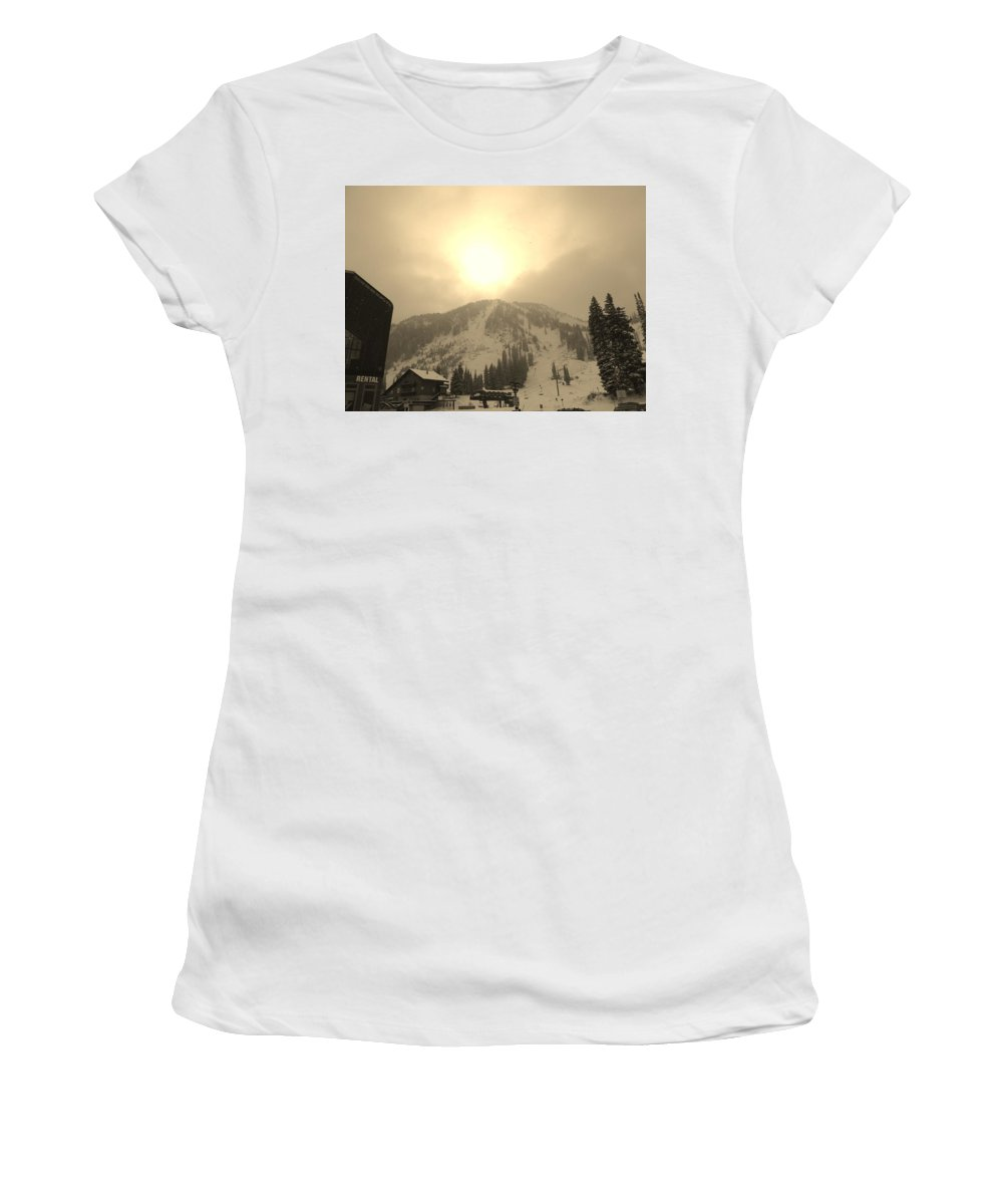 Sunrise Women's T-Shirt (Athletic Fit) featuring the photograph Morning Light by Michael Cuozzo