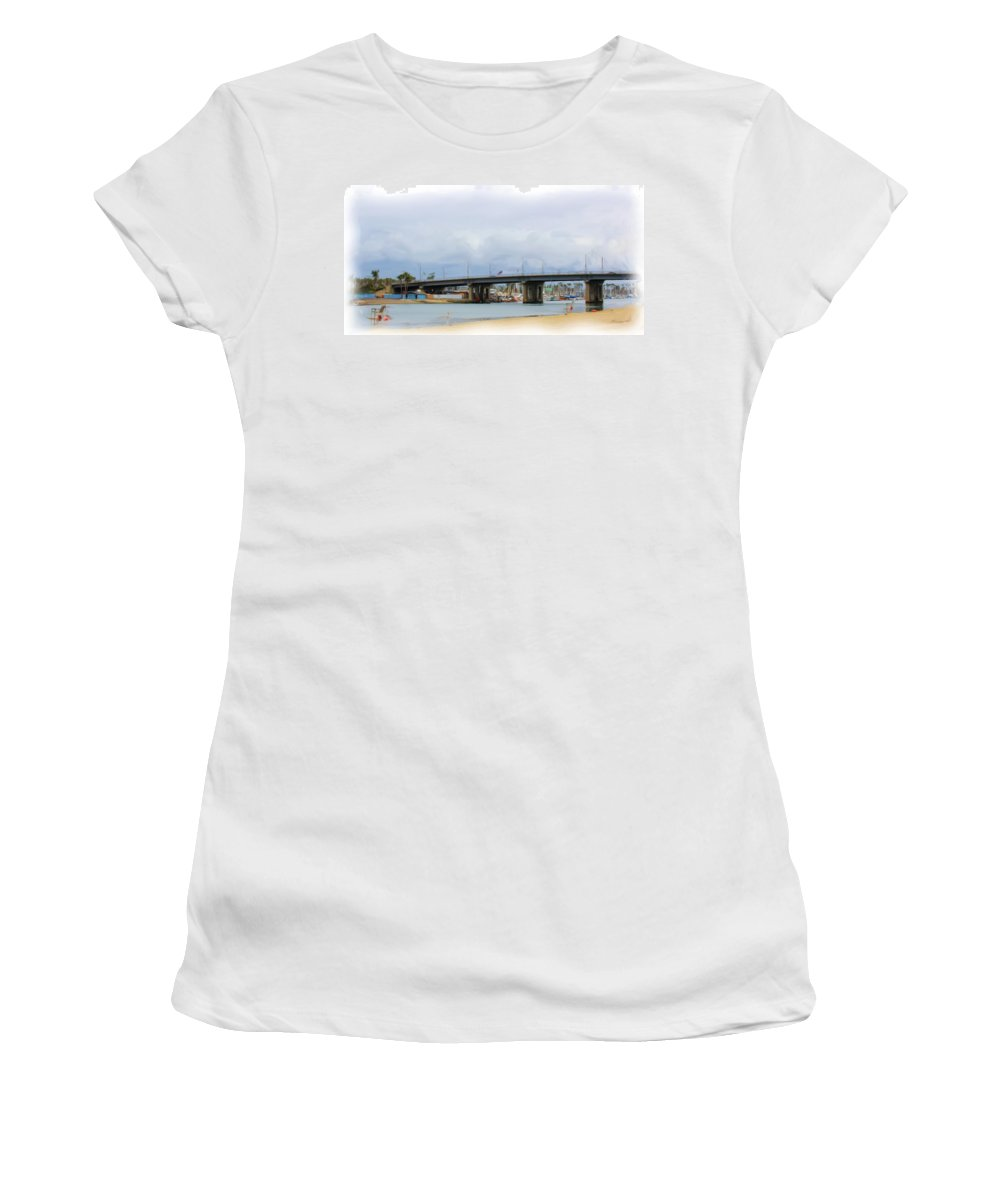 Women's T-Shirt (Athletic Fit) featuring the photograph Mothers Beach by Heidi Smith