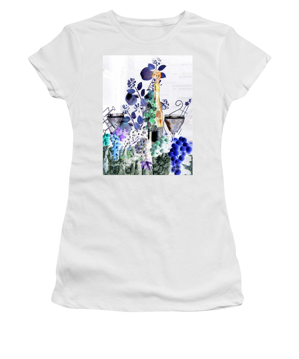 Music Women's T-Shirt featuring the photograph Music With Wine 1 by Anthony Wilkening