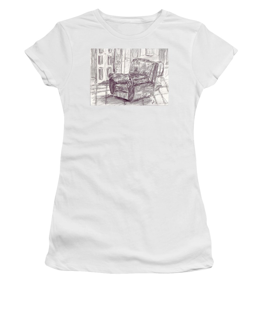 Pencil Women's T-Shirt (Athletic Fit) featuring the photograph My Favorite Chair by Dinah Anaya