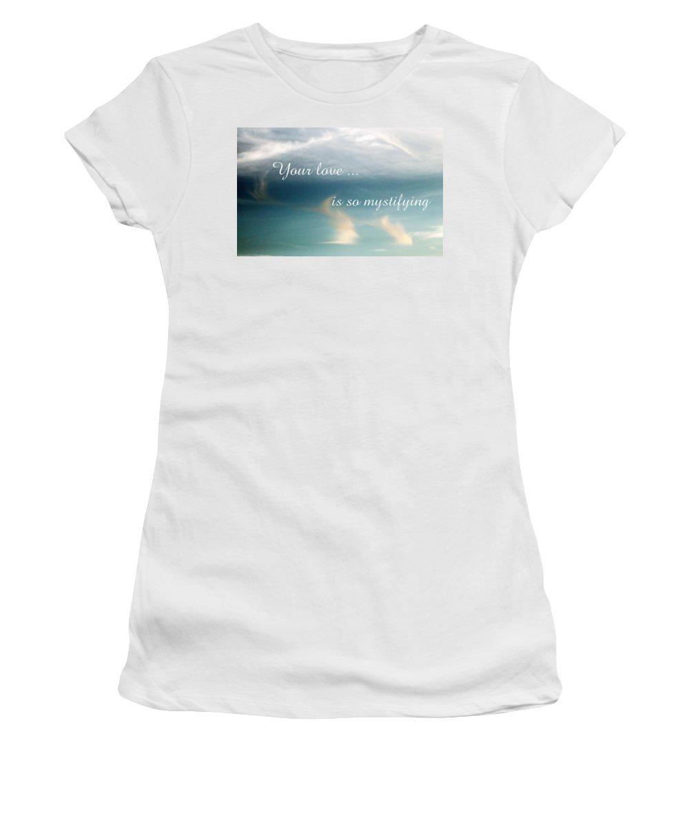 Card Women's T-Shirt featuring the photograph Mystifying by Deborah Crew-Johnson