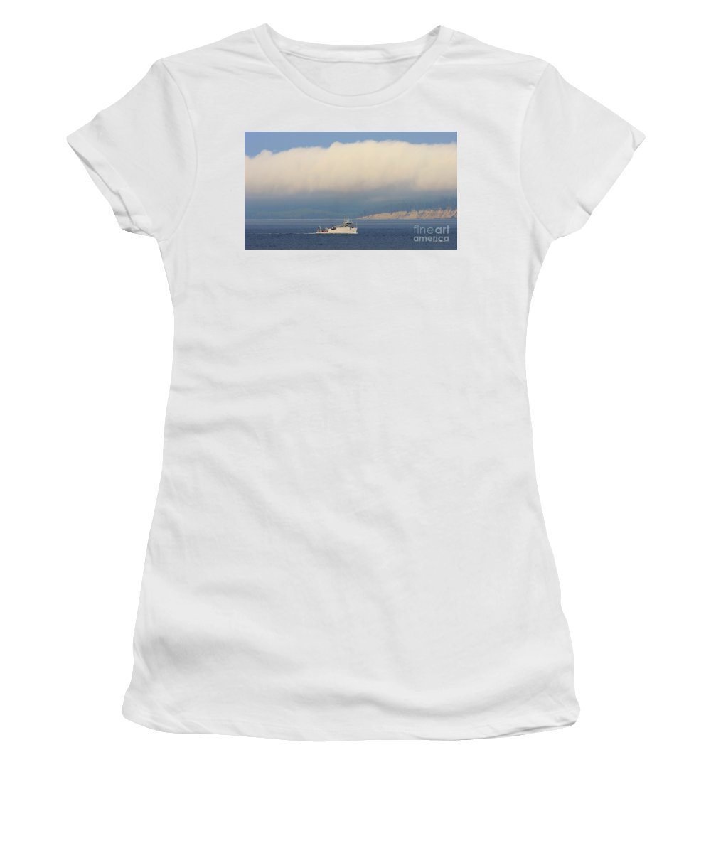 Discovery Bay Ship Women's T-Shirt (Athletic Fit) featuring the photograph Naval Operations by Tap On Photo