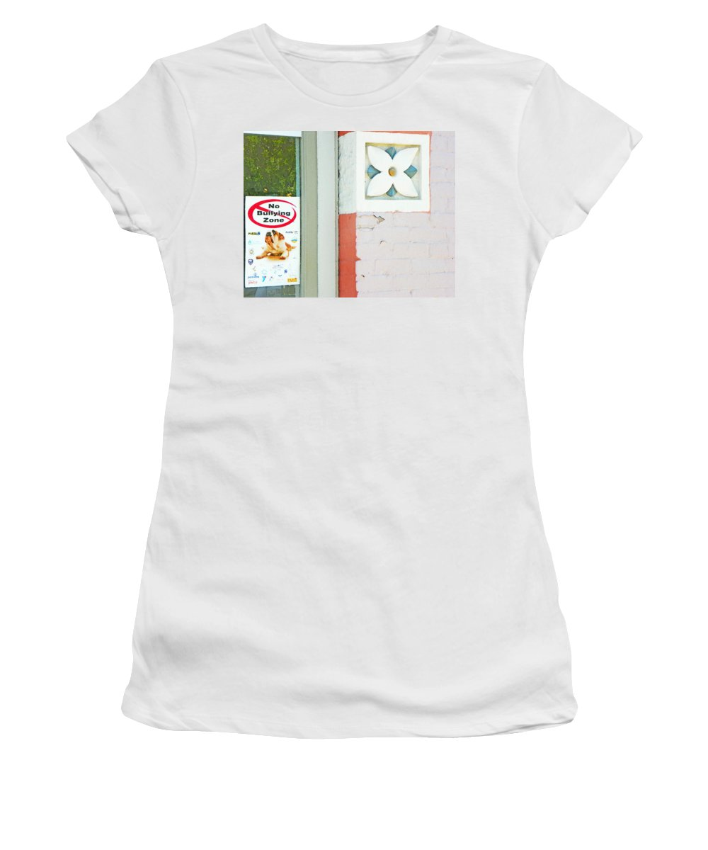 Abstract Women's T-Shirt (Athletic Fit) featuring the photograph Now And Then by Lenore Senior