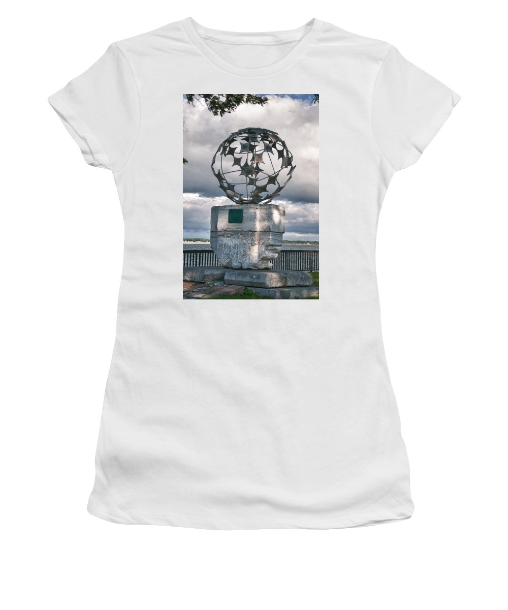 Buffalo Women's T-Shirt (Athletic Fit) featuring the photograph Old Bones 17379 by Guy Whiteley