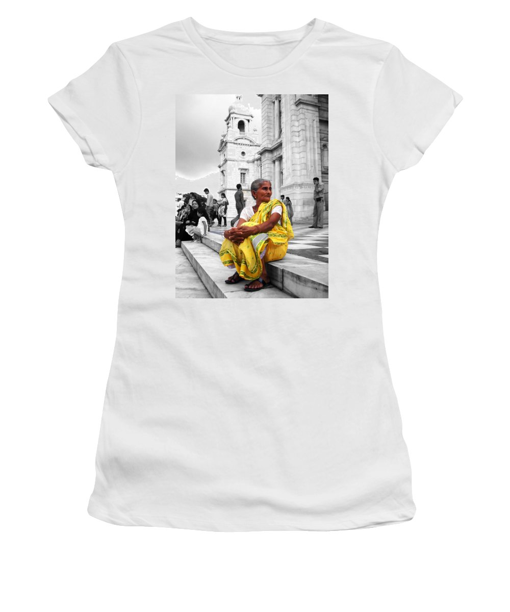 Old Women's T-Shirt featuring the photograph Old Indian Woman by Sumit Mehndiratta