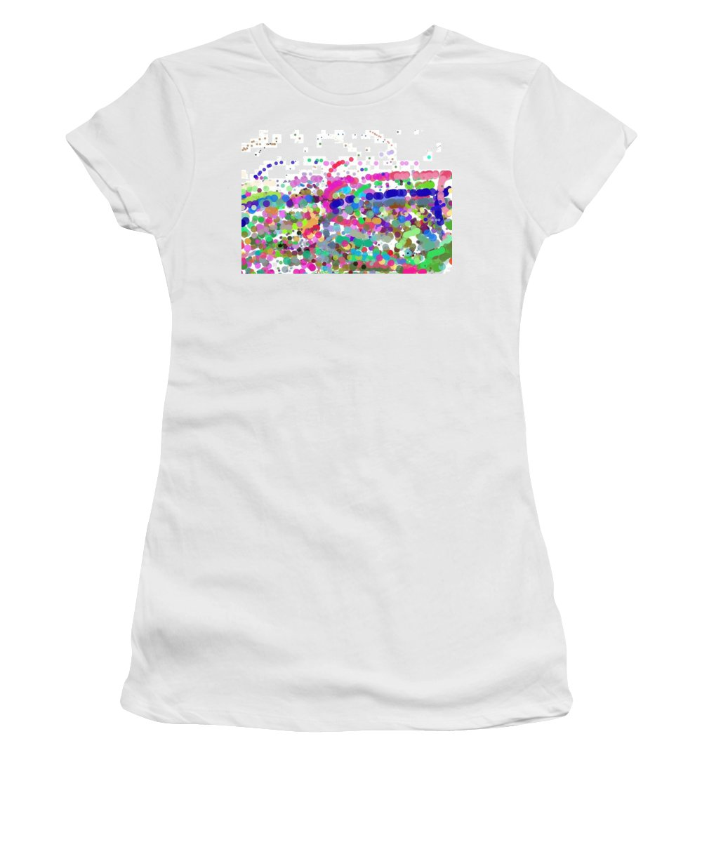 Chaos Women's T-Shirt (Athletic Fit) featuring the digital art Pandemonium Of Colours by Sonali Gangane